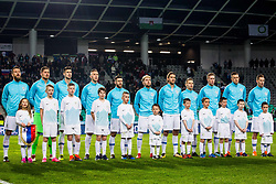 Slovenian team during friendly football match between National teams of Slovenia and Belarus, on March 27, 2018 in SRC Stozice, Ljubljana, Slovenia. Photo by Vid Ponikvar / Sportida