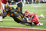 LITTLE ROCK, AR - NOVEMBER 29:  Larry Rountree III #34 of the Missouri Tigers scores a touchdown during a game against the Arkansas Razorbacks at War Memorial Stadium on November 29, 2019 in Little Rock, Arkansas  The Tigers defeated the Razorbacks 24-14.  (Photo by Wesley Hitt/Getty Images) *** Local Caption *** Larry Rountree III