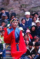 On International Children's day, 2002 in Langmusi, China, Tibetan nomads gathered to celebrate with traditional dancing and other activities.<br /> <br /> Images in this gallery were taken using film and are presented in small, low resolution files - high resolution scans or the original slide/negative are also available.