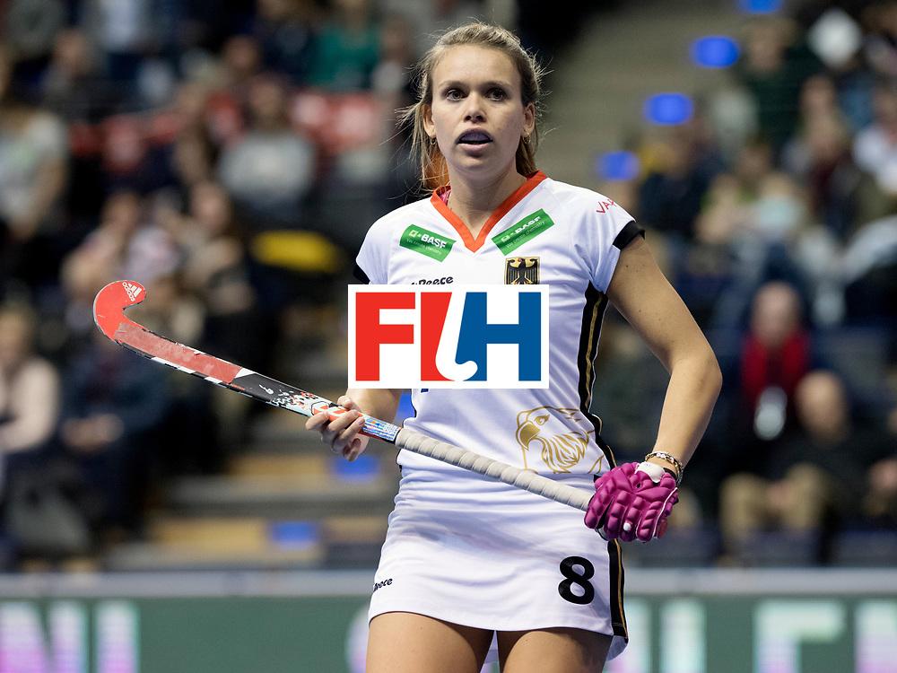 BERLIN - Indoor Hockey World Cup<br /> Women: Ukraine - Germany<br /> foto: Anne Schroeder.<br /> WORLDSPORTPICS COPYRIGHT FRANK UIJLENBROEK