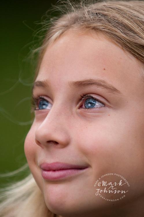 7 year old girl portrait, Kauai, Hawaii