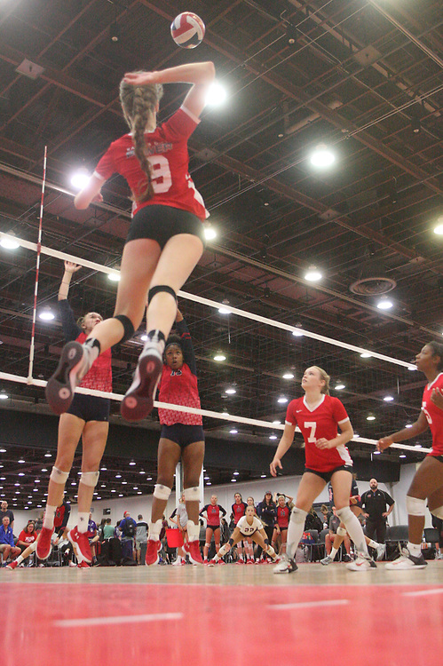 GJNC - July 2018 - Detroit, MI - 16 Open - Power (red) - AVC (red and black) - Photo by Wally Nell/Volleyball USA