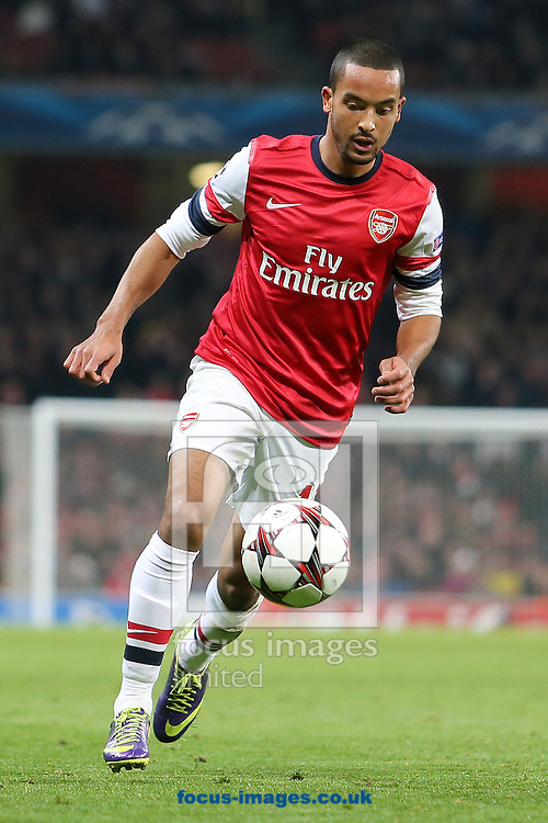 Picture by Richard Calver/Focus Images Ltd +447792 981244<br /> 26/11/2013<br /> Theo Walcott of Arsenal during the UEFA Champions League match against Olympique de Marseille at the Emirates Stadium, London.