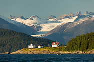 Point Retreat on Admiralty Island in Southeast Alaska. Summer. Evening.