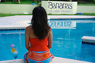"""Isla Grande is an exciting and popular place in Panama that people simply know as """"La Isla"""" (The Island). The island is inside the Portobelo National park, just 5 minutos by motor boat from the small town of La Guaira on the main land that makes its living out fishing and tourism.Pictured: Rooms on the water. Banana Resort"""