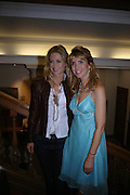 Kelly Rowan and Julia Verdin. 4 Inches, A  Photographic Auction in aid of the Elton John Aids Foundation hosted by Tamara Mellon and Arnaud Bamberger. Christie's. 8 King St. London. 25 May 2005. ONE TIME USE ONLY - DO NOT ARCHIVE  © Copyright Photograph by Dafydd Jones 66 Stockwell Park Rd. London SW9 0DA Tel 020 7733 0108 www.dafjones.com