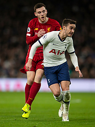 LONDON, ENGLAND - Saturday, January 11, 2020: Liverpool'sAndy Robertson (L) and Tottenham Hotspur's Harry Winks during the FA Premier League match between Tottenham Hotspur FC and Liverpool FC at the Tottenham Hotspur Stadium. (Pic by David Rawcliffe/Propaganda)