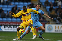 Photo: Pete Lorence.<br />Coventry City v Burnley. Coca Cola Championship. 09/12/2006.<br />Gifton Noel-Williams and Elliott Ward