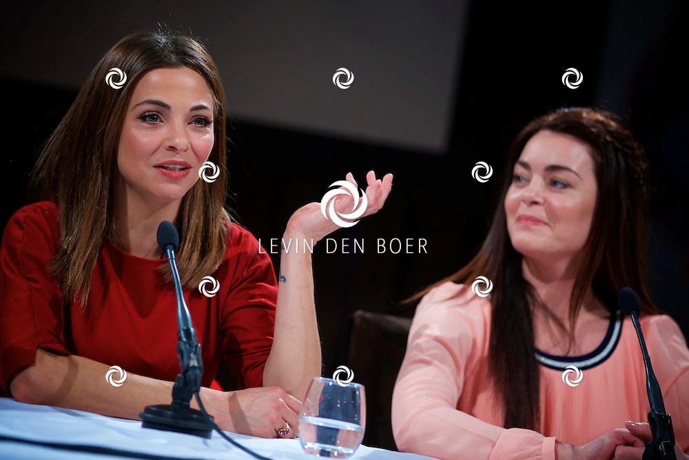 AMSTERDAM - SBS6 Presenteerde hun nieuwste programma 'Popster'. Met hier op de foto  Georgina Verbaan en Kim-Lian van der Meij. FOTO LEVIN DEN BOER - KWALITEITFOTO.NL