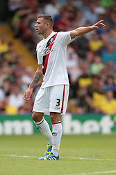 Bournemouth's Steve Cook  - Photo mandatory by-line: Nigel Pitts-Drake/JMP - Tel: Mobile: 07966 386802 10/08/2013 - SPORT - FOOTBALL - Vicarage Road - Hertfordshire -  Watford v AFC Bournemouth - Sky Bet Championship