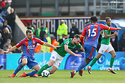 Crystal Palace #18 James McArthur tackles Brighton and Hove Albion midfielder Davy Propper (24) during the Premier League match between Crystal Palace and Brighton and Hove Albion at Selhurst Park, London, England on 9 March 2019.