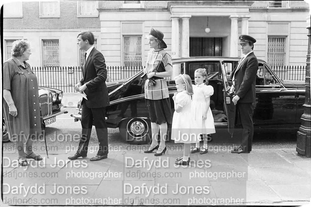 Duke and Duchess of Westminster. Lady Tamara Grosvenar. Lady Edwina Grosvenar. St Michael, Chester Square. 30.06.87&copy; Copyright Photograph by Dafydd Jones 66 Stockwell Park Rd. London SW9 0DA Tel 020 7733 0108 www.dafjones.com<br /><br />&copy; Copyright Photograph by Dafydd Jones 66 Stockwell Park Rd. London SW9 0DA Tel 020 7733 0108 www.dafjones.com