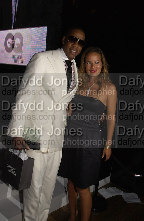 Jay Z and Jade Jagger. GQ Men Of The Year Awards at the Royal Opera House, London. September 6, 2005 in London, England, ONE TIME USE ONLY - DO NOT ARCHIVE  © Copyright Photograph by Dafydd Jones 66 Stockwell Park Rd. London SW9 0DA Tel 020 7733 0108 www.dafjones.com