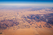 Aerial view of the Kingdom of Jordan from the gulf of Aqaba Red Sea