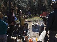 High Desert Test Sites 2013. Breakfast at the UFO camp site in Turkey Springs, AZ.