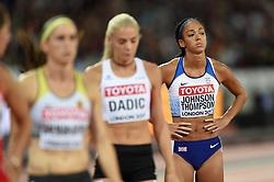 Katarina Johnson-Thompson of Great Britain looks on - Mandatory byline: Patrick Khachfe/JMP - 07966 386802 - 06/08/2017 - ATHLETICS - London Stadium - London, England - 800m Heptathlon - IAAF World Championships