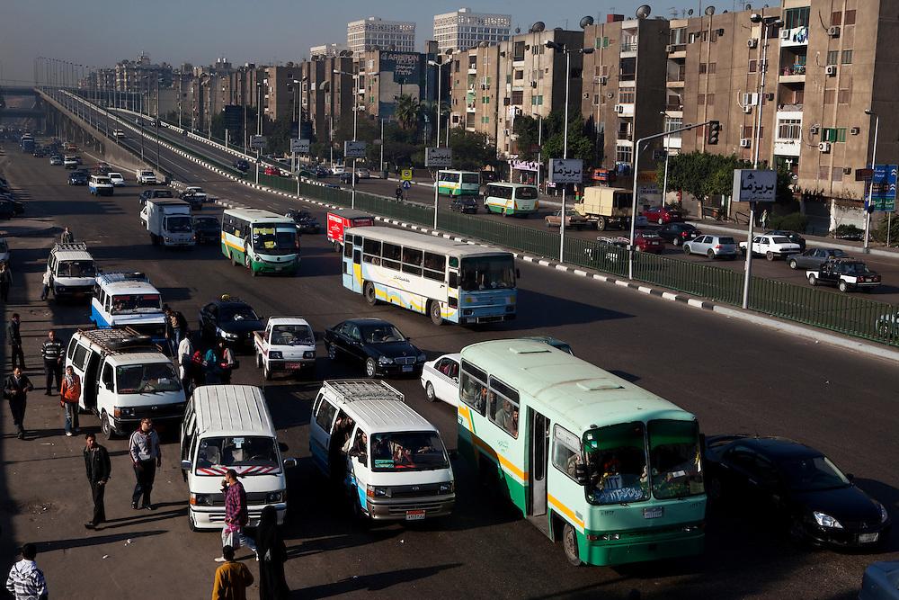 Traffic in Cairo. Cairo, Egypt.