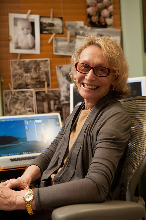 Phyllis Rose, author and photographer, in her New York office.