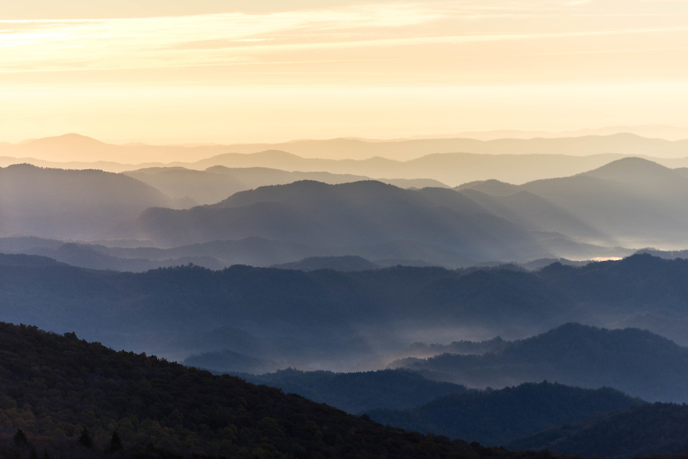 A fall morning along the Blue Ridge Parkway