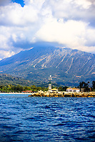 The entrance to Vassiliki harbour