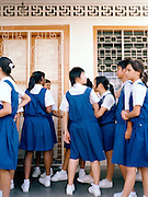 School girls in uniform