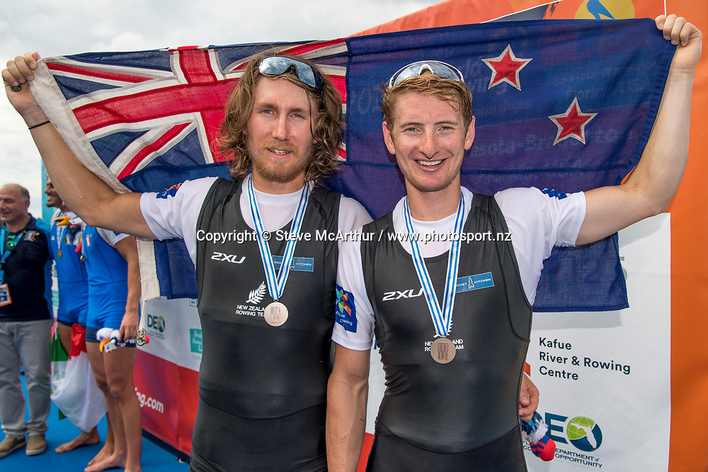 James Hunter and Tom Murray New Zealand Mens Coxless Pair<br /> <br /> Finals races at the World Championships, Sarasota, Florida, USA Saturday 30 September 2017. Copyright photo &copy; Steve McArthur / www.photosport.nz