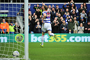 Queens Park Rangers striker Matt Smith (17) celebrating after scoring 1-0 during the EFL Sky Bet Championship match between Queens Park Rangers and Rotherham United at the Loftus Road Stadium, London, England on 18 March 2017. Photo by Matthew Redman.