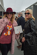 HENRIETTA TUNOGI; AMANDA ELIASCH, Opening of Frieze Masters, Regents Park, London 12 October 2015