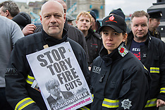 2 Dec 2015 - Fire fighters protest at City Hall against more proposed cuts