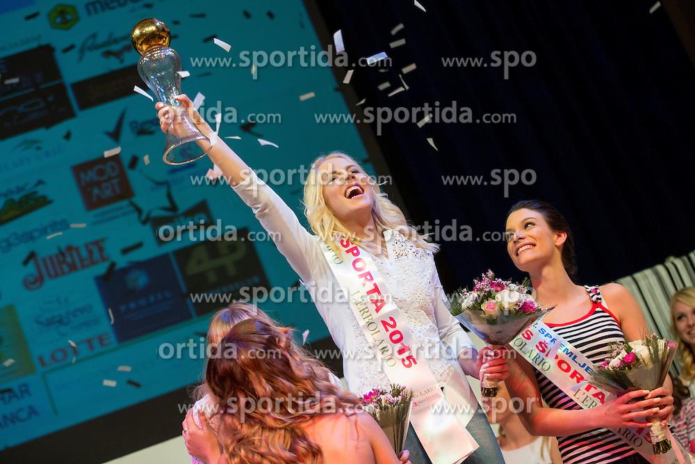 Kaja Bajda at Miss Sports of Slovenia 2015, on April 18, 2015, in Festivalna dvorana, Ljubljana, Slovenia