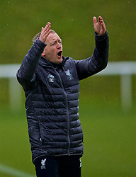 DERBY, ENGLAND - Friday, March 8, 2019: Liverpool's manager Neil Critchley reacts during the FA Premier League 2 Division 1 match between Derby County FC Under-23's and Liverpool FC Under-23's at the Derby County FC Training Centre. (Pic by David Rawcliffe/Propaganda)