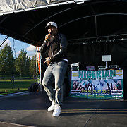 Finsbury park, London, UK. 4th August 2017. Akata stone performs at the Nigerian Summer Party in the Park with live music, great food & drinks.
