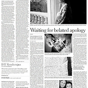 "Tearsheet of ""Ireland's Magdalene Laundries"" published in International Herald Tribune/NYT"