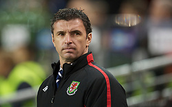 DUBLIN, IRELAND - Tuesday, February 8, 2011: Wales' new manager Gary Speed MBE before the opening Carling Nations Cup match against the Republic of Ireland at the Aviva Stadium (Lansdowne Road). (Photo by David Rawcliffe/Propaganda)