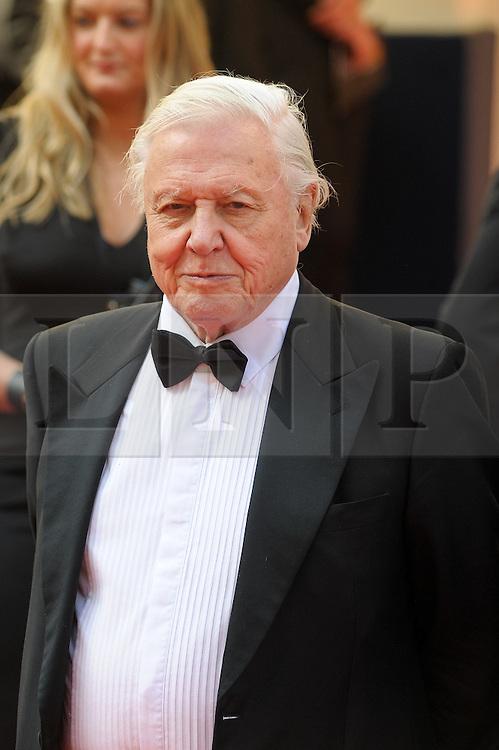 © Licensed to London News Pictures. 18/05/2014. London, UK. The Arqiva BAFTA TV Awards Red Carpet Arrivals. . Persons Pictured: David Attenborough. Photo credit : Julie Edwards/LNP