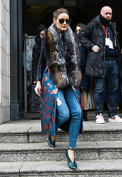 Celebrities are seen arriving to Carolina Herrera Fall/Winter 2019 Fashion Show during New York Fashion Week at the New York Historical Society. 11 Feb 2019 Pictured: Olivia Palermo. Photo credit: MEGA TheMegaAgency.com +1 888 505 6342