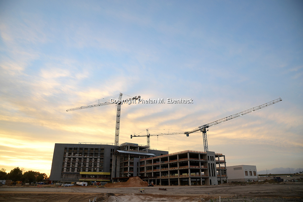 Construction continues on a new Florida Hospital facility, Tuesday, Jan. 17, 2017, in Apopka, Fla. (Photo by Phelan M. Ebenhack)
