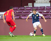 Scotland's Ryan Fraser during Scotland Under-21 v FYR Macedonia,  UEFA Under 21 championship qualifier  at Tynecastle, Edinburgh. Photo: David Young<br /> <br />  - © David Young - www.davidyoungphoto.co.uk - email: davidyoungphoto@gmail.com