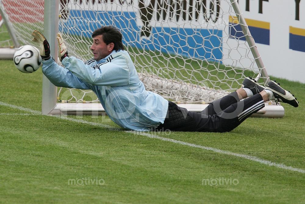Fussball WM 2006: Training Argentinien Torwart Roberto ABBONDANZIERI ( Argentinien)