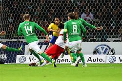 27.11.2011, Weser Stadion, Bremen, GER, 1.FBL, Werder Bremen vs VFB Stuttgart, im Bild Aaron Hunt (SV Werder Bremen), Tim Wiese (SV Werder Bremen), Shinji Okazaki (VfB Stuttgart), Clemens Fritz (SV Werder Bremen), Naldo (SV Werder Bremen) // during the Match GER, 1.FBL, Werder Bremen vs VFB Stuttgart, Weser Stadion, Bremen, Germany, on 2011/11/27EXPA Pictures © 2011, PhotoCredit: EXPA/ nph/ SielskiSielski..***** ATTENTION - OUT OF GER, CRO *****