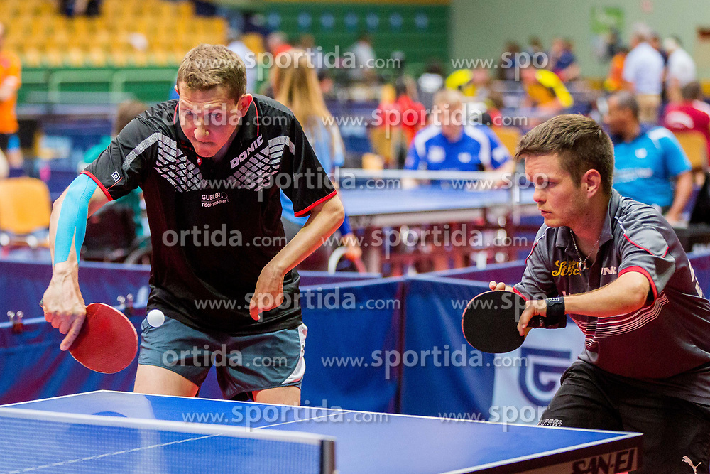 (Team SUI) ROSENAST Thomas and SCHEIBER Christian in action during 15th Slovenia Open - Thermana Lasko 2018 Table Tennis for the Disabled, on May 10, 2018 in Dvorana Tri Lilije, Lasko, Slovenia. Photo by Ziga Zupan / Sportida