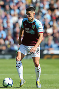 Burnley midfielder Ashley Westwood (18) during the Premier League match between Burnley and Arsenal at Turf Moor, Burnley, England on 12 May 2019.