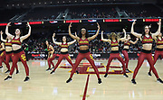 Feb 21, 2019; Los Angeles, CA, USA; Southern California Trojans dance force cheerleaders perform in the first half against the Oregon Ducks at Galen Center.
