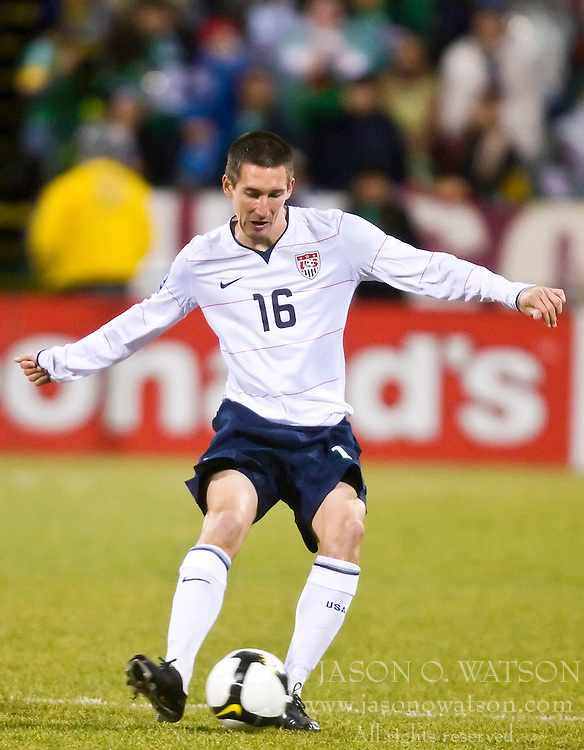 United States midfielder Sacha Kljestan (16).  The United States men's soccer team defeated the Mexican national team 2-0 in CONCACAF final group qualifying for the 2010 World Cup at Columbus Crew Stadium in Columbus, Ohio on February 11, 2009.