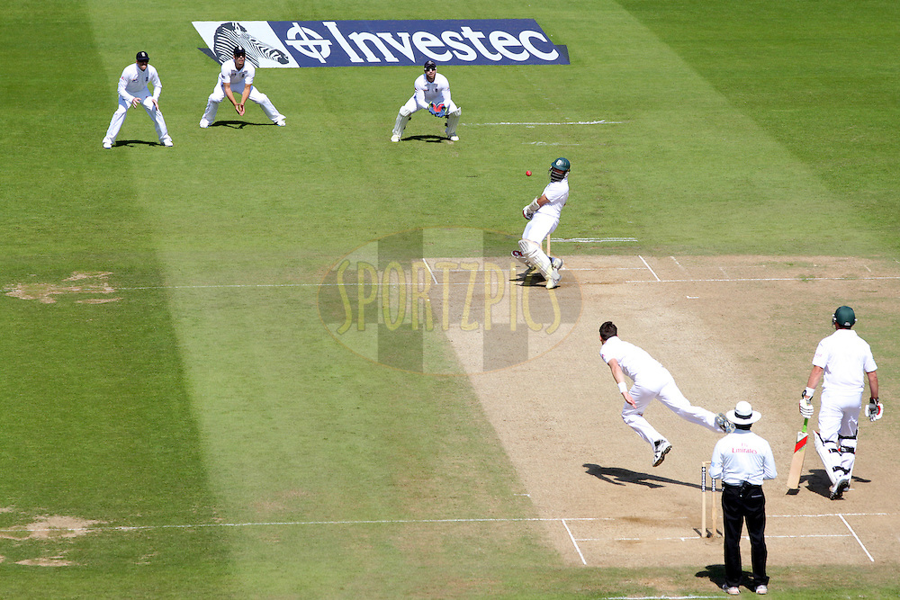 © Andrew Fosker / Seconds Left Images 2012 - South Africa's Hashim Amla sways away from an Anderson short ball on his way to his historic triple century the first for South Africa  England v South Africa - 1st Investec Test Match -  Day  4 - The Oval  - London - 22/07/2012