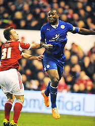 WES MORGAN, Leicester City, Nottingham Forest v Leicester City, City Ground Nottingham,  Sky Bet Championship, 19th Febuary 2014