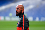 Chelsea goalkeeper Willy Caballero (13) on the pitch ahead of the Champions League match between Chelsea and Valencia CF at Stamford Bridge, London, England on 17 September 2019.