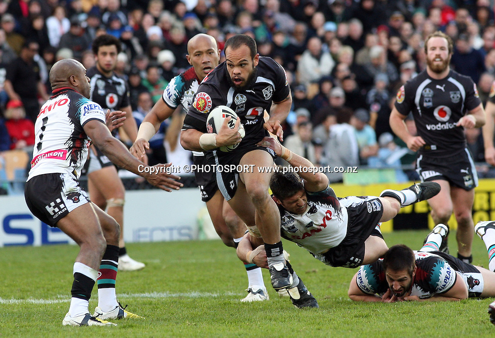Warriors prop Sam Rapira. NRL, Vodafone Warriors v Penrith  Panthers, Mt Smart Stadium, Auckland, Sunday 31 August 2008. Photo: Andrew Cornaga/PHOTOSPORT