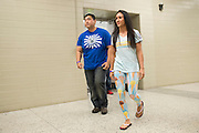 DALLAS, TX - MARCH 13:  UFC women's strawweight champion Carla Esparza walks to the scale during the UFC 185 weigh-ins at the Kay Bailey Hutchison Convention Center on March 13, 2015 in Dallas, Texas. (Photo by Cooper Neill/Zuffa LLC/Zuffa LLC via Getty Images) *** Local Caption *** Carla Esparza