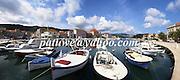 Panorama, Stari Grad harbour in Hvar island, Dalmatia, Balkans, Croatia